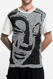 Wholesale Sure Design Men's Big Buddha Face T-Shirt White - $8.50