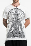 Wholesale Sure Design Men's Hamsa Meditation T-Shirt White - $8.50