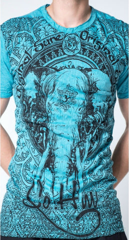 Sure Design Men's Wild Elephant T-Shirt Turquoise