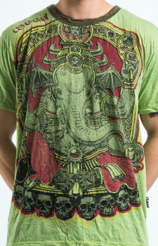 Sure Design Men's Batman Ganesh T-Shirt Green