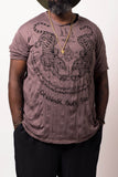 Wholesale Sure Design Men's Thai Tattoo T-Shirt Brown - $11.00