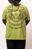 Wholesale Sure Design Men's Thai Tattoo T-Shirt Lime - $11.00