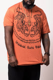 Wholesale Sure Design Men's Thai Tattoo T-Shirt Orange - $11.00