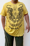 Wholesale Sure Design Men's Thai Tattoo T-Shirt Yellow - $8.50