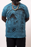 Wholesale Plus Size Sure Design Men's Magic Mushroom T-Shirt Denim Blue - $11.00