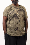 Wholesale Plus Size Sure Design Men's Magic Mushroom T-Shirt Green - $11.00