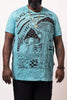 Plus Size Sure Design Men's Magic Mushroom T-Shirt Turquoise