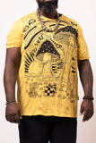 Wholesale Plus Size Sure Design Men's Magic Mushroom T-Shirt Yellow - $11.00