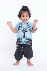 Sure Design Kids Tree Of Life T-Shirt Light Blue