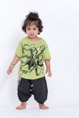 Sure Design Kids Octopus T-Shirt Lime