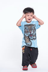 Sure Design Kids Baby Tiger T-Shirt Light Blue