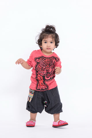 Sure Design Kids Baby Tiger T-Shirt Red