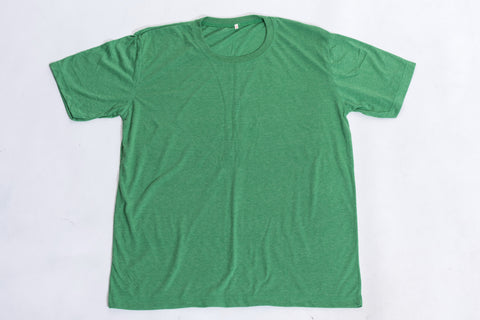 Solid Color Super Soft Cotton T-Shirt in Green