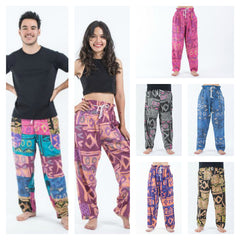 Assorted Set of 5 Patchwork Drawstring Pants