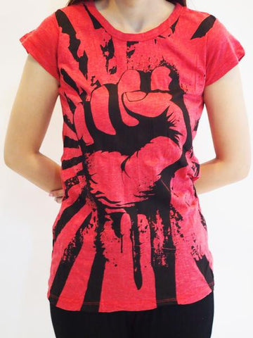 Sure Design Women's Fight To Freedom T-Shirt Red