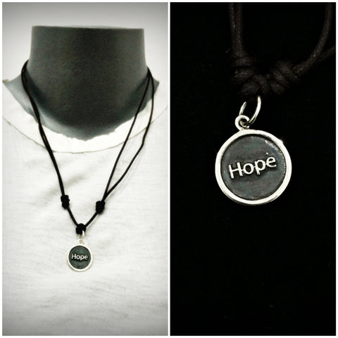 Sterling Silver Thai  Necklace Pendant Solid Hope Circle