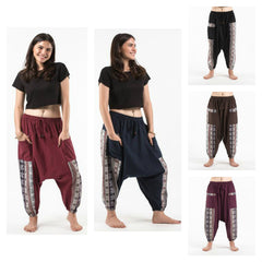 Assorted set of 5 Elephant Aztec Cotton Harem Pants
