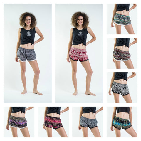 Assorted set of 5 Super Light Pom Pom Shorts