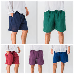 Assorted set of 10 Pin Stripes Unisex Shorts