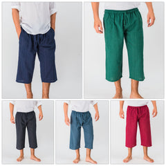Assorted set of 5 Pin Stripe Unisex Capri Shorts