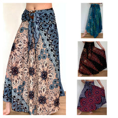 Assorted set of 10 Smocked Maxi Skirt with Coconut Buckle