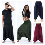 Wholesale Assorted set of 5 Solid Color Jumpsuit Harem Pants - $45.00