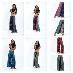 Assorted set of 5 Two Layers Palazzo Pants