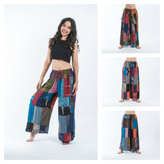 Assorted Set of 5 Patchwork Wide Leg Palazzo Pants