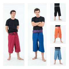 Assorted set of 5 Fisherman Pants 3/4 Length
