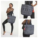 Wholesale Assorted 3 Piece Indigo Print Tote Bag - $33.00