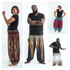Assorted set of 5 Plus Size Thai High Crotch Harem Pants BESTSELLER