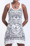 Wholesale Sure Design Women's Shanti Ganesha Tank Dress White - $9.00
