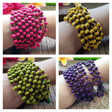 Wholesale Assorted set of 10 Torsade Bracelet Wood Beaded Mala Style Fair Trade - $60.00