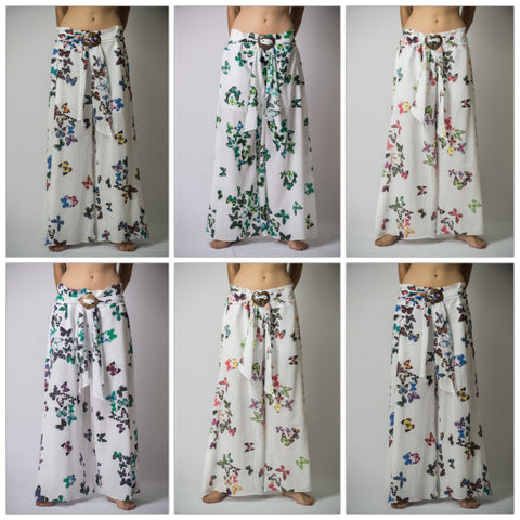 Assorted set of 10 Thailand Super Soft Organic Cotton Wide Leg Yoga Pants Butterfly