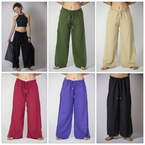 Assorted set of 5 Thailand Women's Harem Double Layers Palazzo Pants