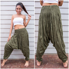 Sure Design Women's Harem Pants in Green