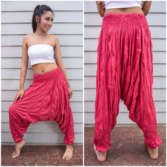 Sure Design Women's Harem Pants in Red
