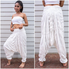 Sure Design Women's Harem Pants in White