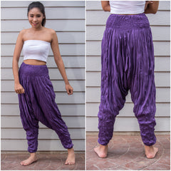 Sure Design Women's Harem Pants in Purple