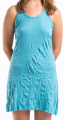 Sure Design Women's Blank Tank Dress Turquoise
