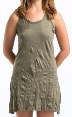 Sure Design Women's Blank Tank Dress Green