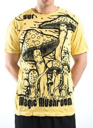 Sure Design Men's Mushroom T-Shirt Yellow