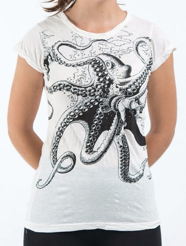 Sure Design Women's Octopus T-Shirt White