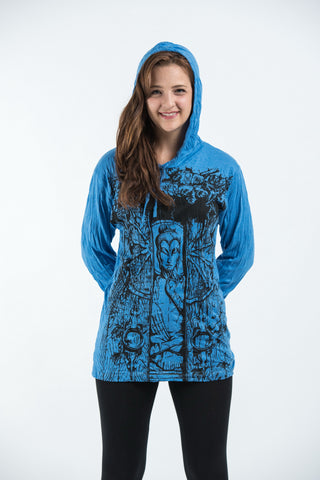 Sure Design Unisex Meditation Buddha Hoodie Blue