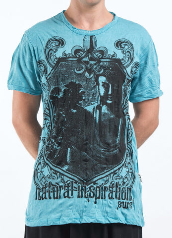 Sure Design Men's Antique Buddha T-Shirt Turquoise
