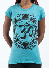 Sure Design Women's Infinitee Ohm T-Shirt Turquoise