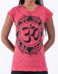Sure Design Women's Infinitee Ohm T-Shirt Red