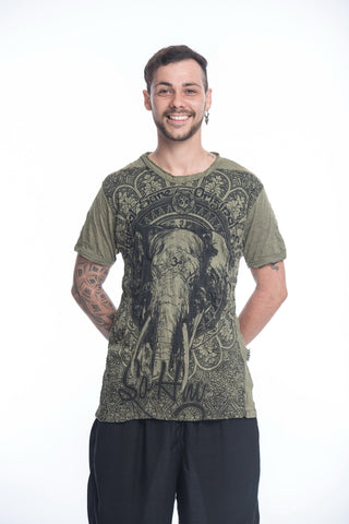 Sure Design Men's Wild Elephant T-Shirt Green