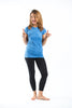 Sure Design Women's Blank T-Shirt Blue