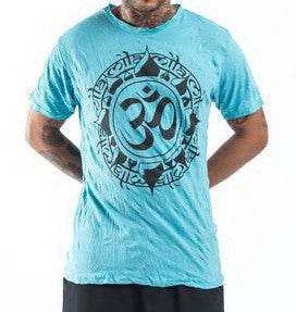 Sure Design Men's Infinitee Ohm T-Shirt Turquoise